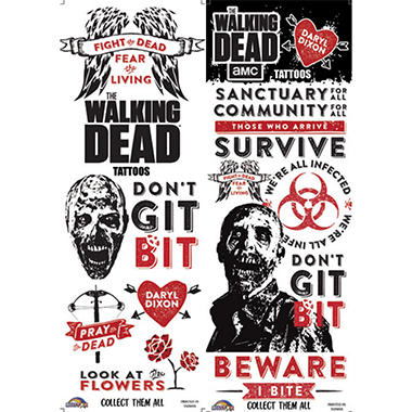 The Walking Dead Tattoos (300 ct.)