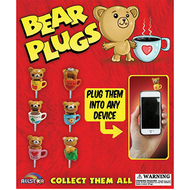Bear Cell Phone Plugs 2