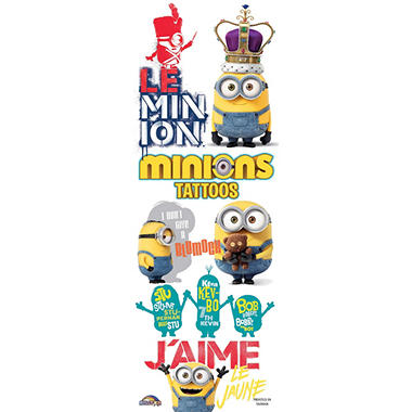 Minions Movie Tattoos Series #2