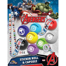 "2"" Marvel Avengers Sticker Roll Capsules (120 ct.)"