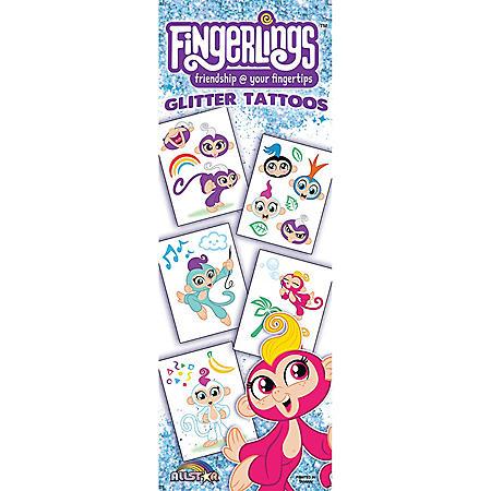 Fingerings Glitter Temporary Tattoos