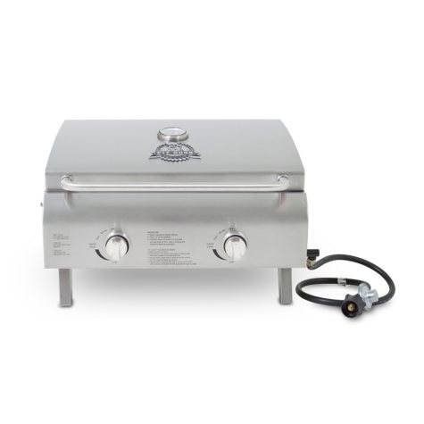 Pit Boss 2-Burner Stainless Steel Portable LP Gas Tailgate/Camping Grill