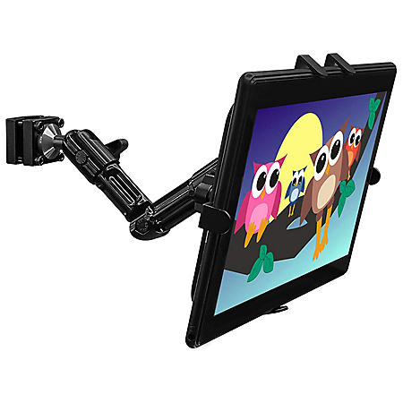 Mount-It! Universal Tablet and iPad Rear Car Seat Mount Clamp Base (Black)