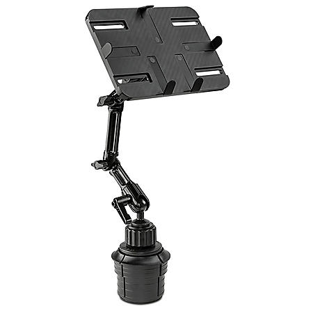 Mount-It! Universal Tablet and iPad Car Mount with Cup Holder Base (Black)