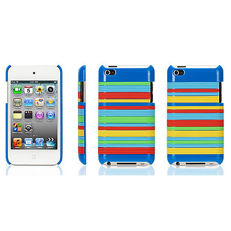 Griffin Snappy Stripes Case for iPod Touch 4G - Blue - Sam's