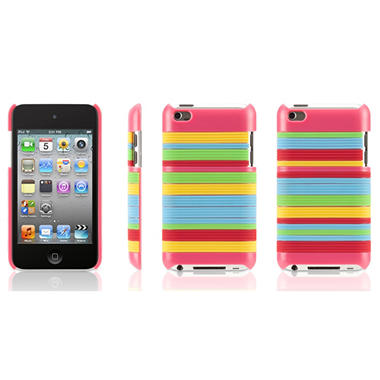 Griffin Snappy Stripes Case for iPod Touch 4G - Pink