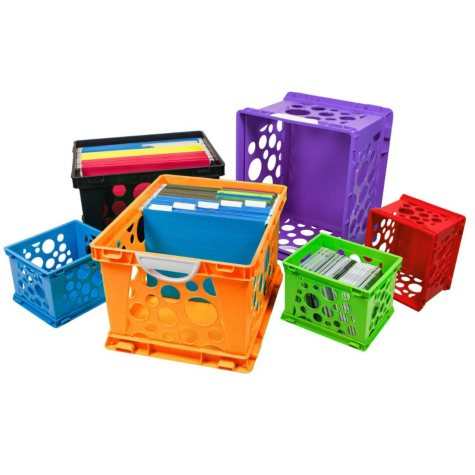 Storex Storage Crates 6-Pack Combo