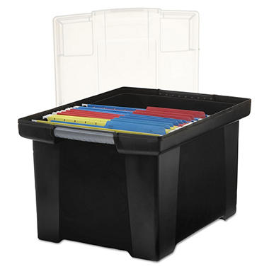Storex File Tote with Snap-On Lid