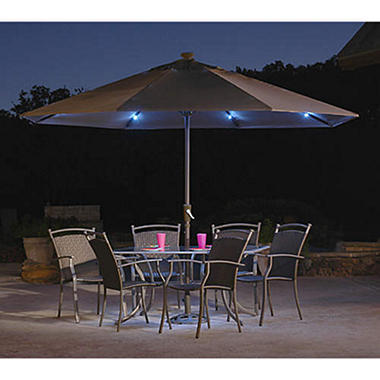 Sunsource Solar Lighted Umbrella   11u0027 5
