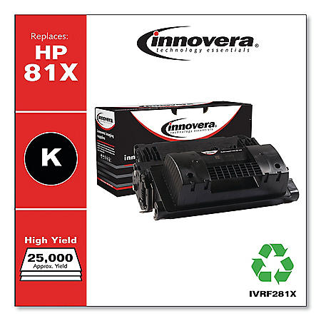 Innovera Remanufactured CF281X Black High-Yield Toner, 25000 Page Yield