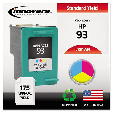 Innovera® Remanufactured C9361WN (93) Ink, Tri-Color