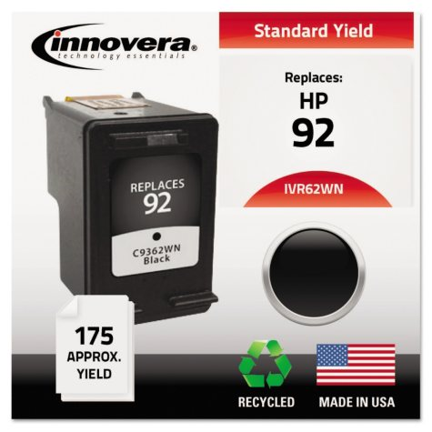 Innovera® Remanufactured C9362WN (92) Ink, Black