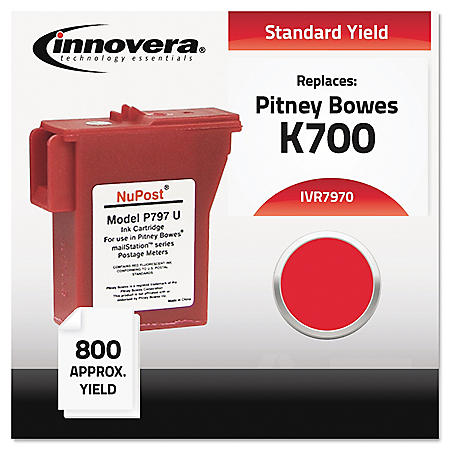 Innovera® Compatible 797-0 Postage Meter Ink, Red