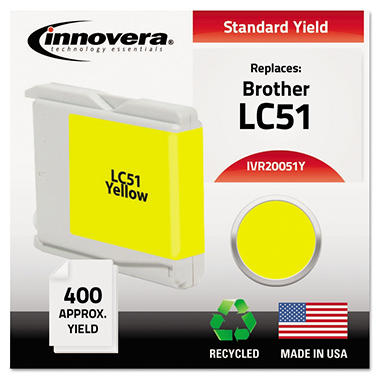 Innovera® Remanufactured LC51Y Ink, Yellow