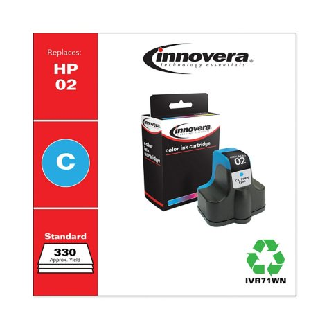 Innovera® Remanufactured C8771WN (02) Ink, Cyan