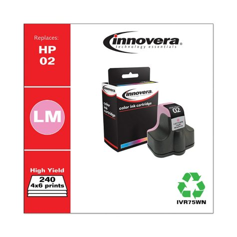 Innovera® Remanufactured C8775WN (02) Ink, Light Magenta