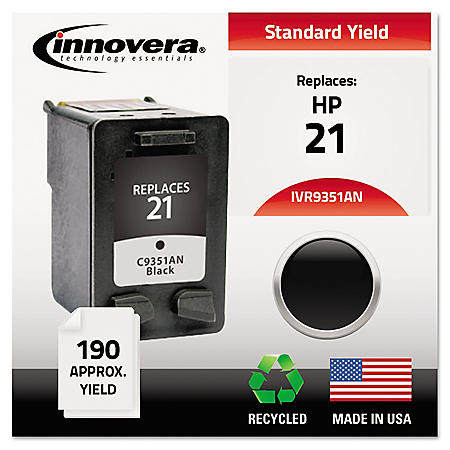 Innovera® Remanufactured C9351AN (21) Ink, Black