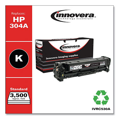 Innovera® Remanufactured CC530A (304A) Toner, Black