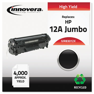 Innovera® Remanufactured Q2612X (12AJ) Extra High-Yield Toner, Black
