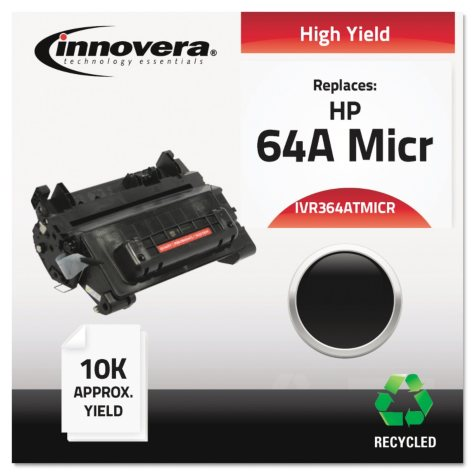 Innovera® Remanufactured CC364A(M) (64AM) High-Yield MICR Toner, Black