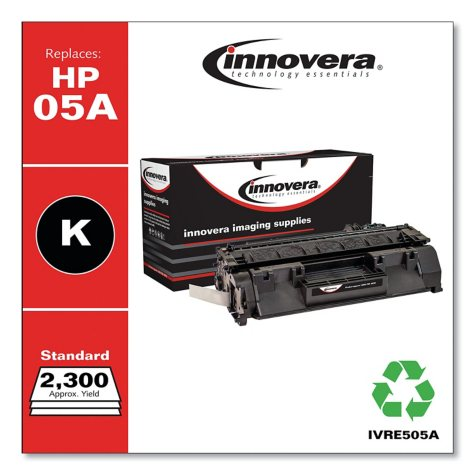 Innovera® Remanufactured CE505A (05A) Toner, Black