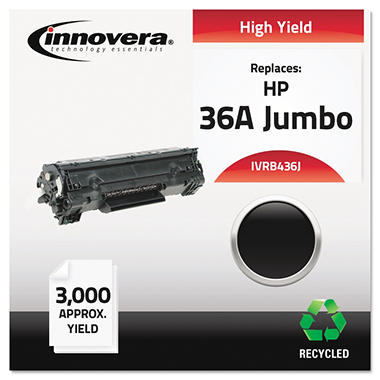 Innovera® Remanufactured CB436A(J) (36AJ) Extra High-Yield Toner, Black
