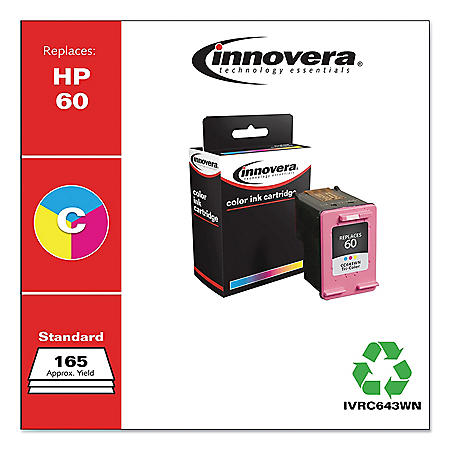 Innovera® Remanufactured 60 Ink, Tri-Color