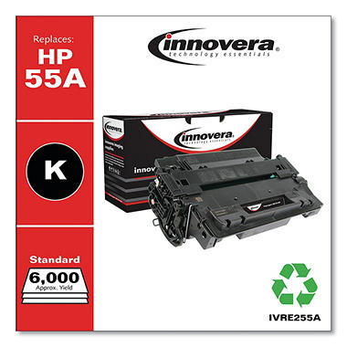 Innovera® Remanufactured CE255X(J) (55XJ) Extra High-Yield Toner, Black