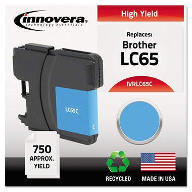 Innovera® Remanufactured LC65C High-Yield Ink, Cyan