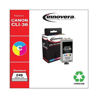 Innovera® Remanufactured 1511B002 (CLI-36) Ink, Tri-Color