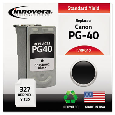 Innovera® Remanufactured 0615B002 (PG-40) Ink, Black
