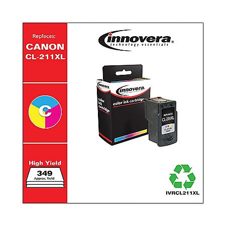 Innovera® Remanufactured 2975B001 (CL-211XL) High-Yield Ink, Tri-Color
