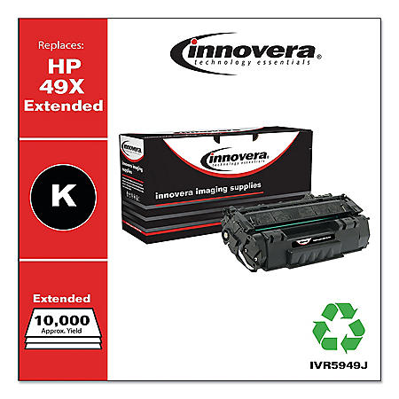 Innovera® Remanufactured Q5949X(J) (49XJ) High-Yield Toner, Black