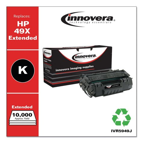 Innovera® Remanufactured Q5949X(J) (49XJ) High-Yield Toner, Black