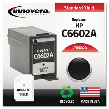 Innovera® Remanufactured C6602A Ink, Black