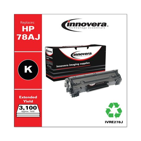 Innovera® Remanufactured CE278A(J) (78AJ) Extra High-Yield Toner, Black