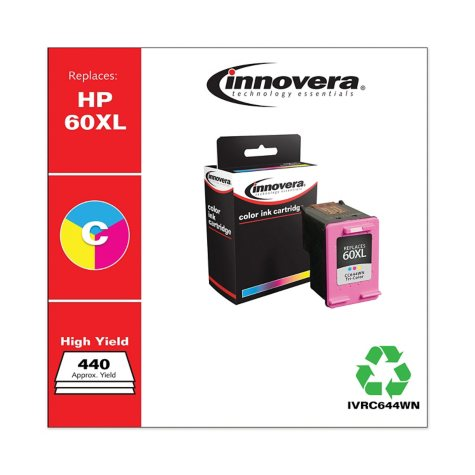 Innovera® Remanufactured CC644WN (60XL) High-Yield Ink, Tri-Color