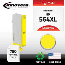 Innovera® Remanufactured CB325WN (564XL) High-Yield Ink, Yellow