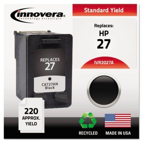 Innovera® Remanufactured C8727AN (27) Ink, Black