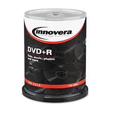 Innovera - DVD+R Discs, 4.7GB, 16x, Spindle, Silver -  100/Pack