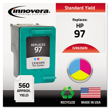 Innovera® Remanufactured C9363WN (97) High-Yield Ink, Tri-Color