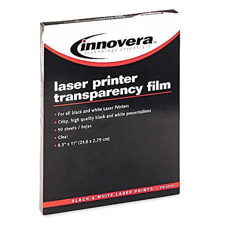 Clear Transparency Film for BK/WH Laser Printers