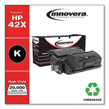Innovera® Remanufactured Q5942X (42X) High-Yield Toner, Black