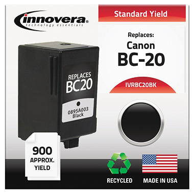 Innovera - BC20BK Compatible, Remanufactured, 0895A003 (BC20) Ink, 900 Yield - Black