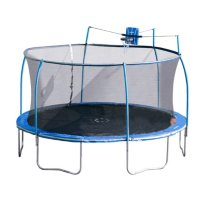 Sportspower 15' SteelFlex Trampoline with Slama Jama Basketball System