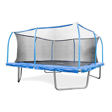 15' Square Trampoline and SteelFlex Safety Enclosure