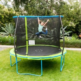 10' Trampoline with Steelflex Enclosure and Flashlight Zone