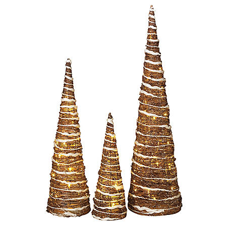 Nested Champagne Trees (Set of 3)