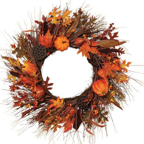 Autumn Fields Harvest Wreath