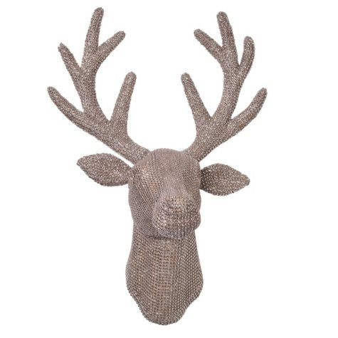 "18.5"" Jeweled Reindeer Antler Head"
